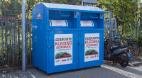Gebruikte Kleding.Inzamelcontainers Care 4 Care